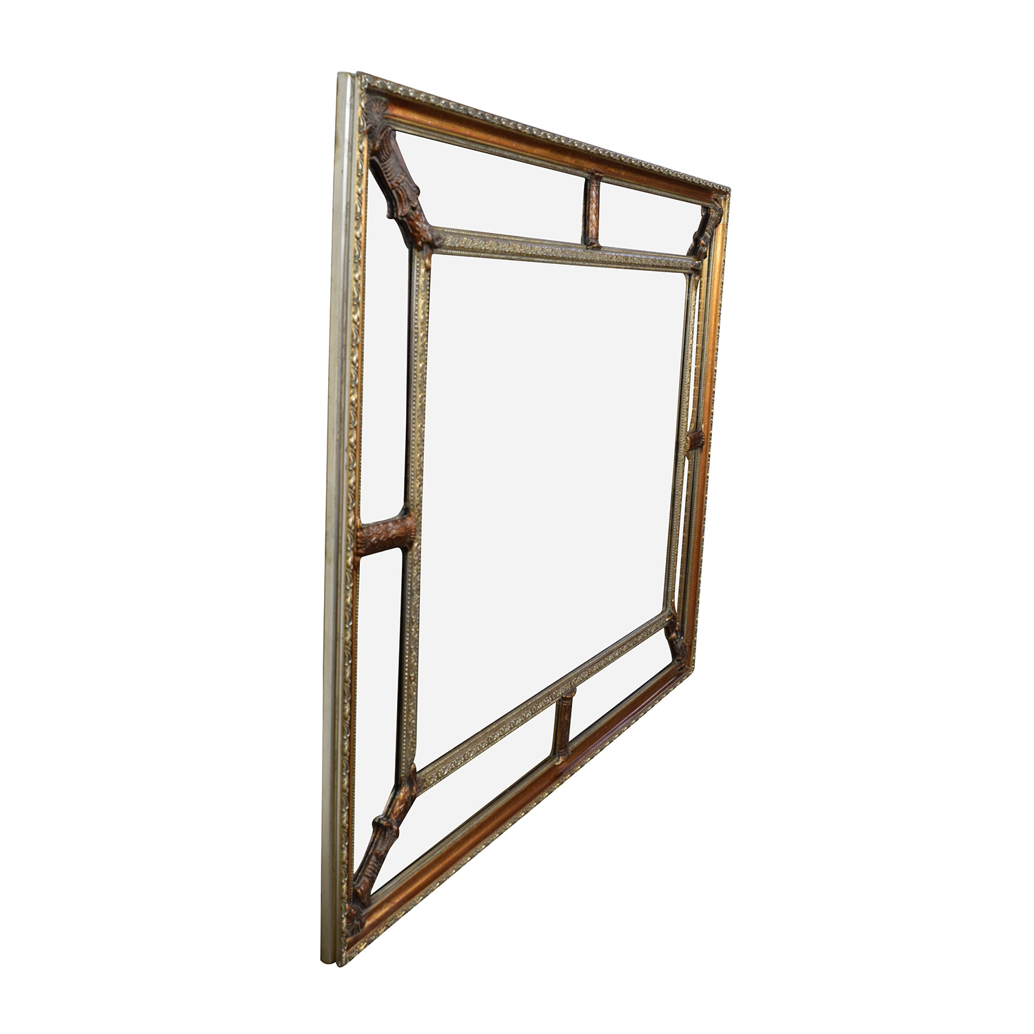 buy Gold Copper Framed Square Mirror  Mirrors