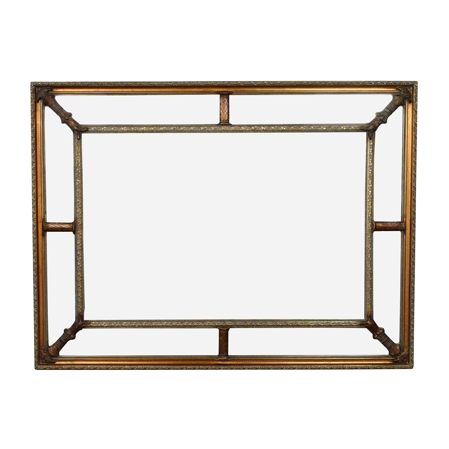 shop Gold Copper Framed Square Mirror  Mirrors