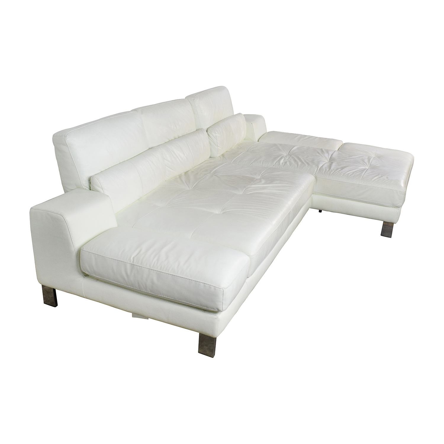 Genuine Leather Sectional Sofa Canada: Mobilia Canada Mobilia Canada Funktion White
