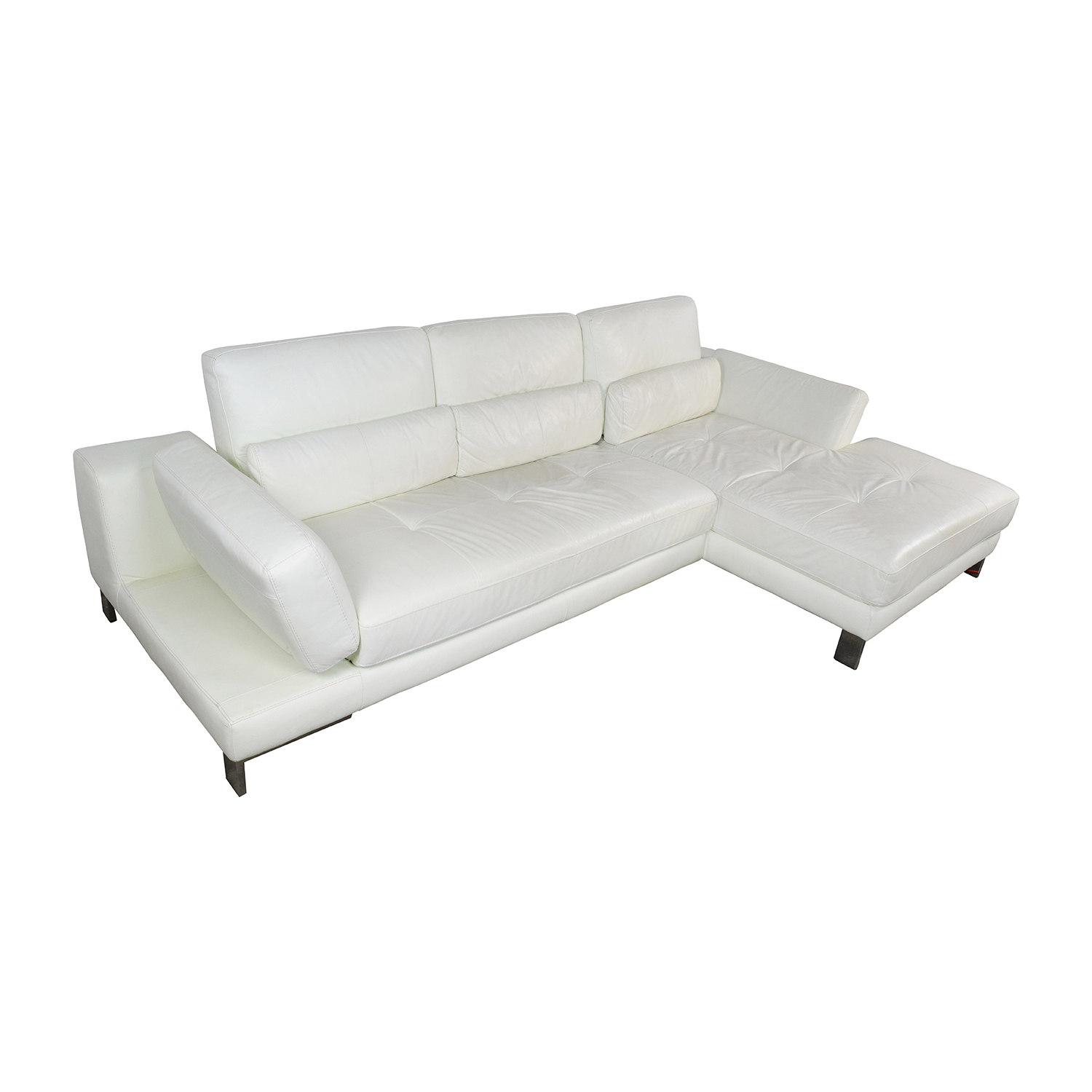 72% OFF Mobilia Canada Mobilia Canada Funktion White Leather