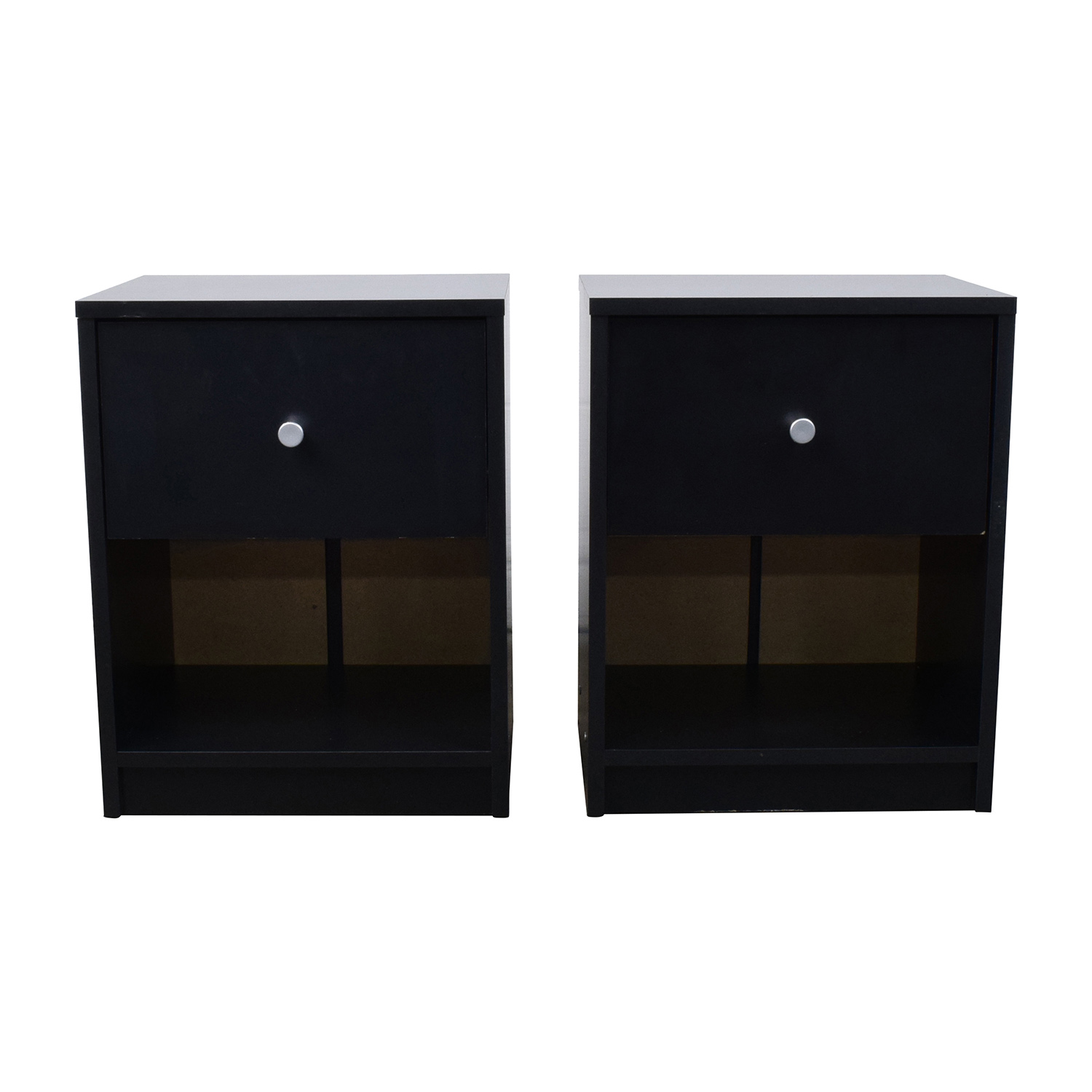 Black Nightstands with Drawer and Shelf coupon