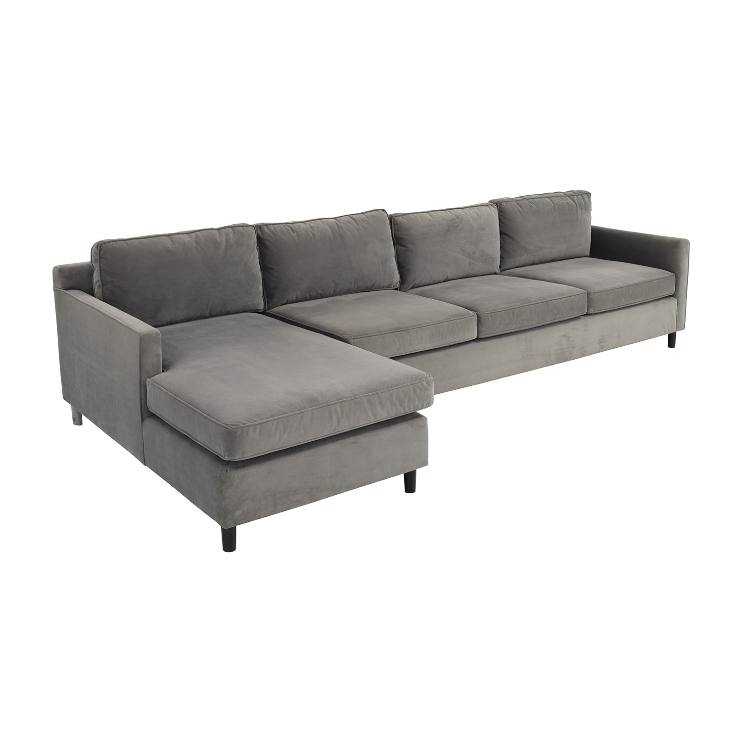 ... Shop Mitchell Gold U0026 Bob Williams Grey Chaise Sectional Mitchell Gold  And Bob Williams Sectionals ...
