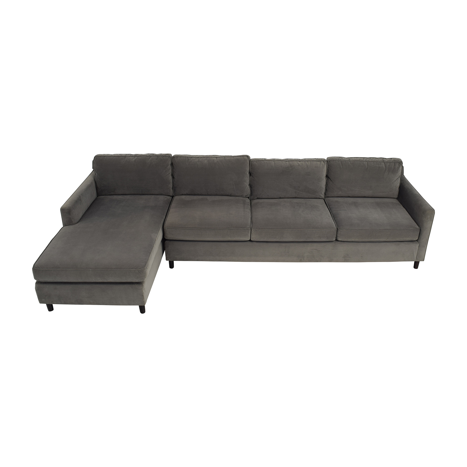 Mitchell Gold and Bob Williams Mitchell Gold & Bob Williams Grey Chaise Sectional discount