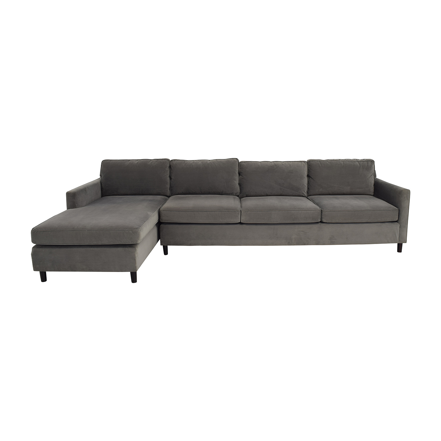 Ordinaire Mitchell Gold U0026 Bob Williams Grey Chaise Sectional Mitchell Gold And Bob  Williams ...