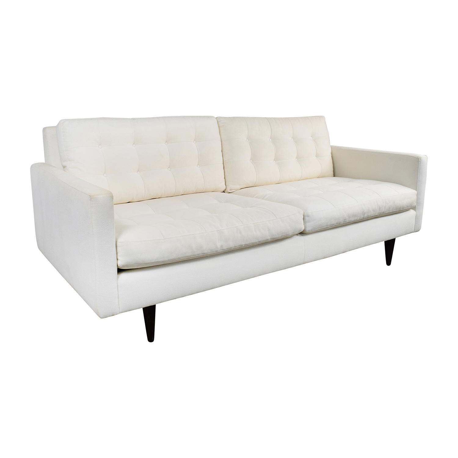 73 off crate and barrel crate barrel white twill for Classic sofa