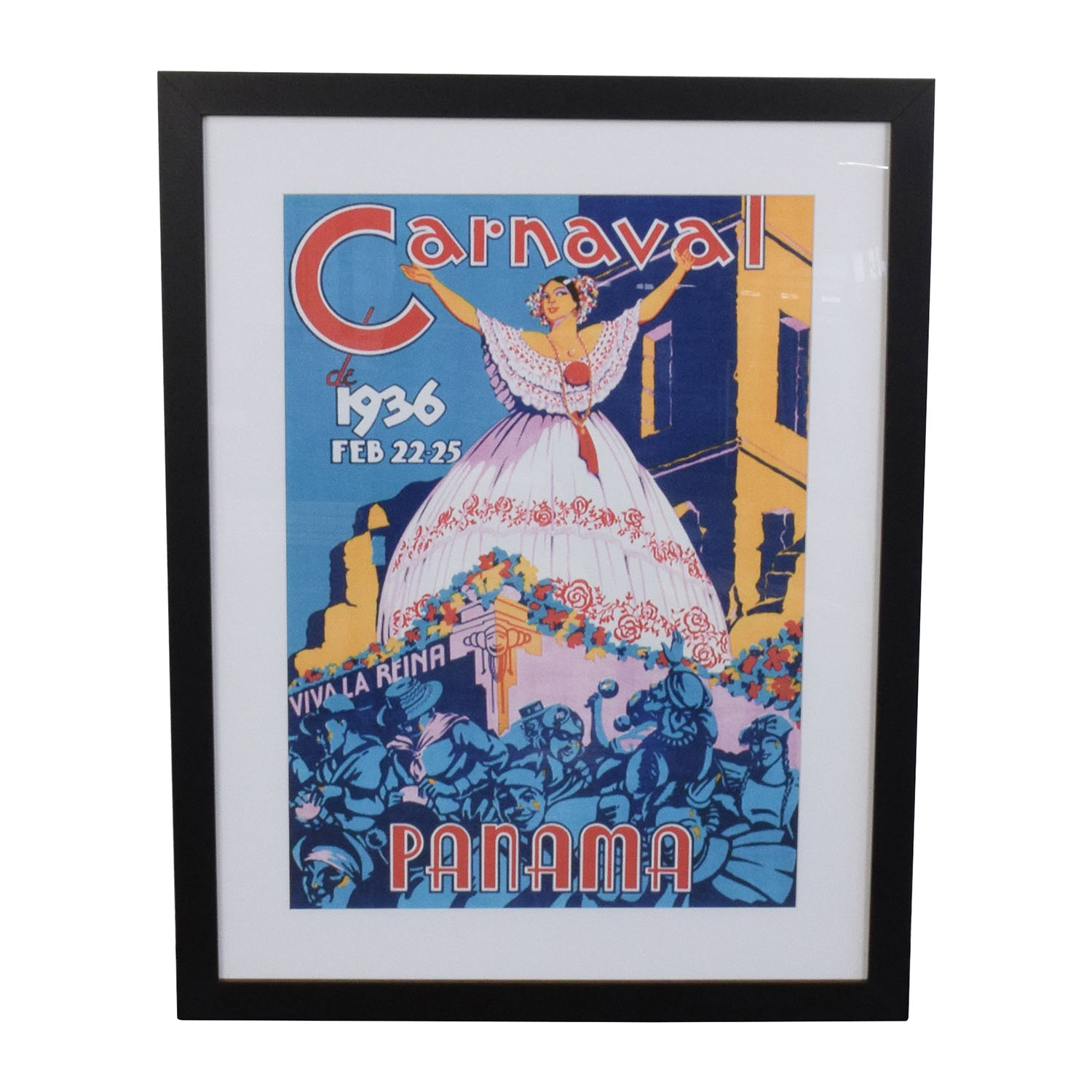 buy Getty 1936 Panama Carnival Framed Art Print Getty Decor