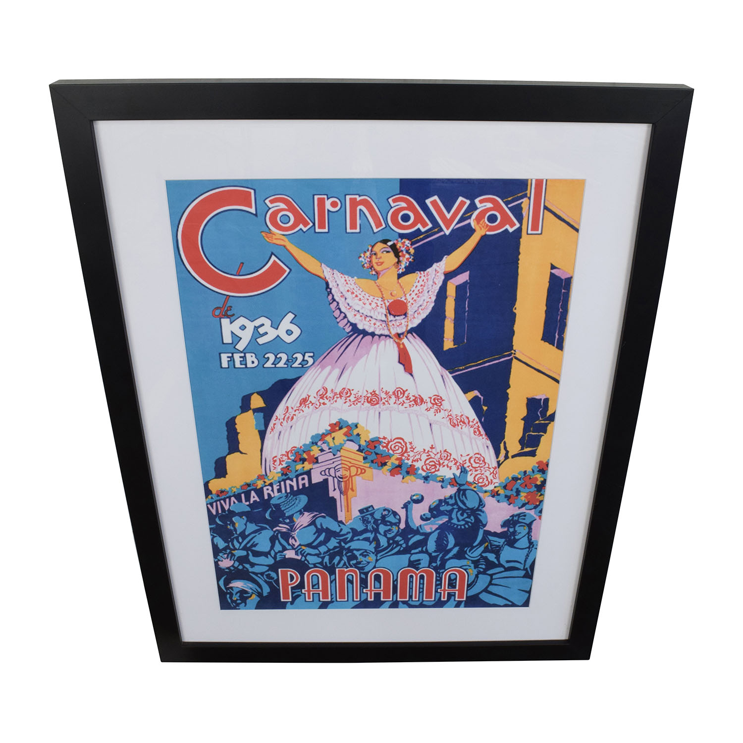 Getty Getty 1936 Panama Carnival Framed Art Print n/a