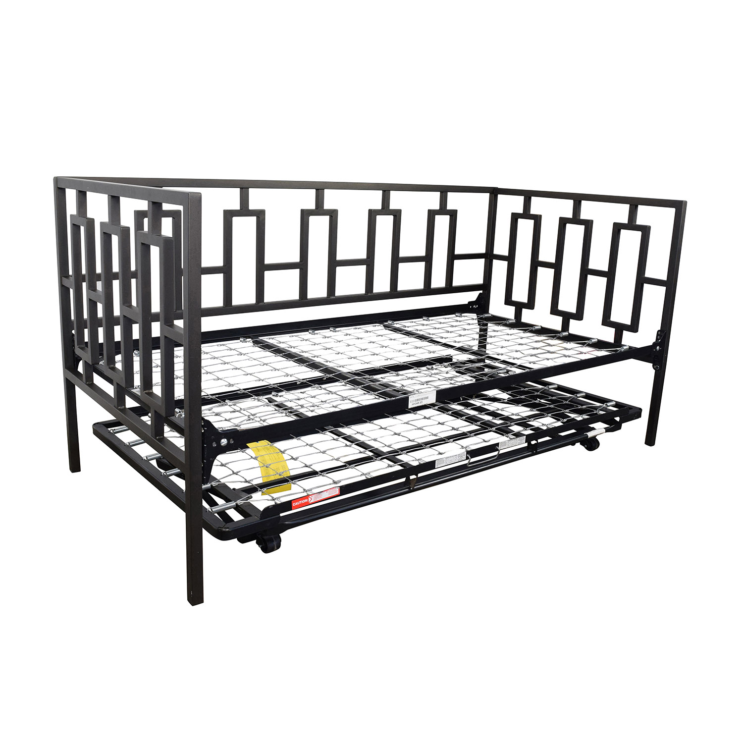 65 off macy s macy s black metal framed day twin bed 10236 | buy macys black metal framed day twin bed with trundle