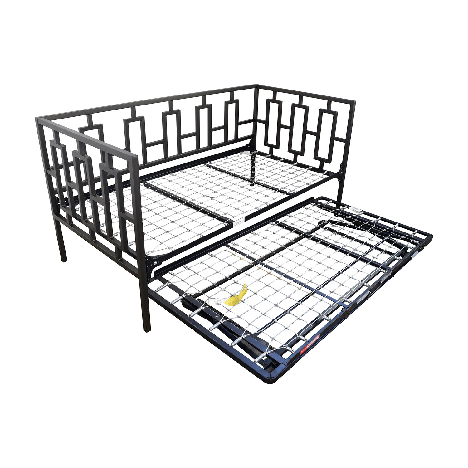 65 off macy 39 s macy 39 s black metal framed day twin bed Metal twin bed frame