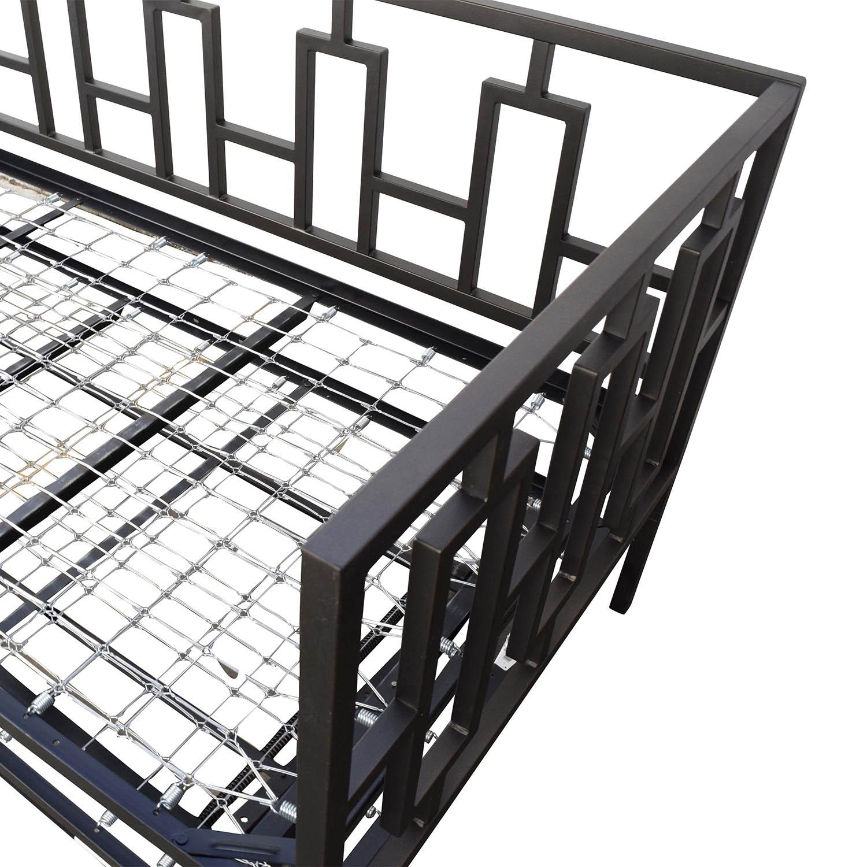 65 Off Macy S Macy S Black Metal Framed Day Twin Bed