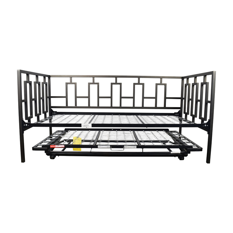 Macy's Black Metal Framed Day Twin Bed with Trundle sale