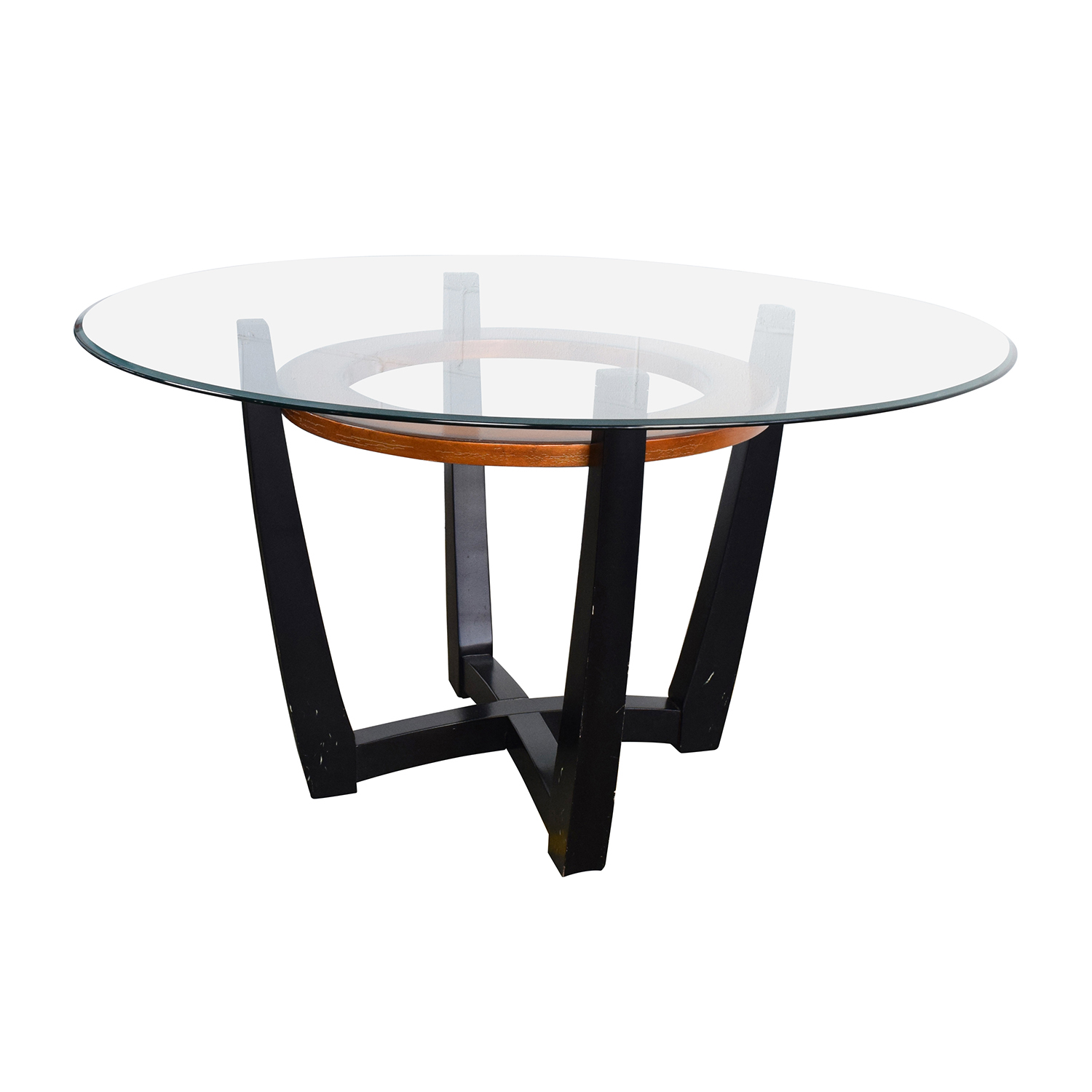 88 Off Macy 39 S Macy 39 S Elation Round Glass Dining Table
