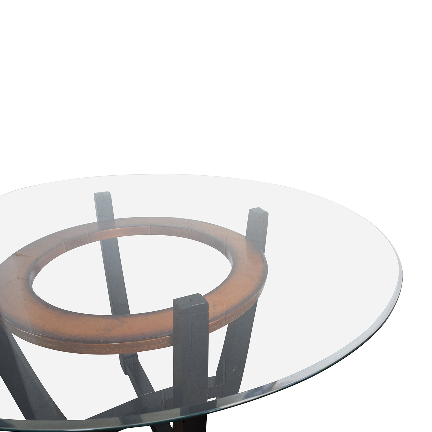 88 OFF Macys Macys Elation Round Glass Dining Table  : second hand macys elation round glass dining table from furnishare.com size 1500 x 1500 jpeg 233kB