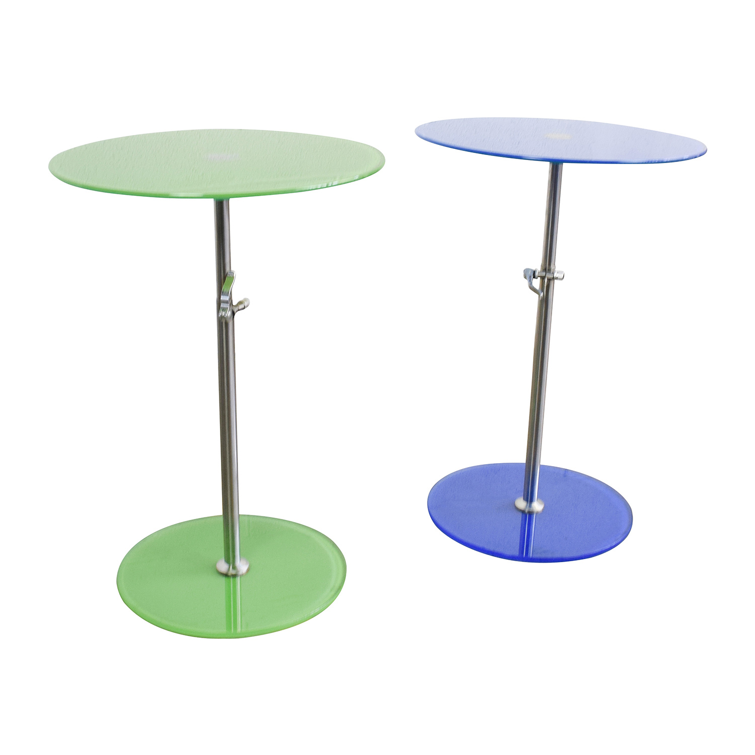 75 Off Modern Round Glass End Tables Tables