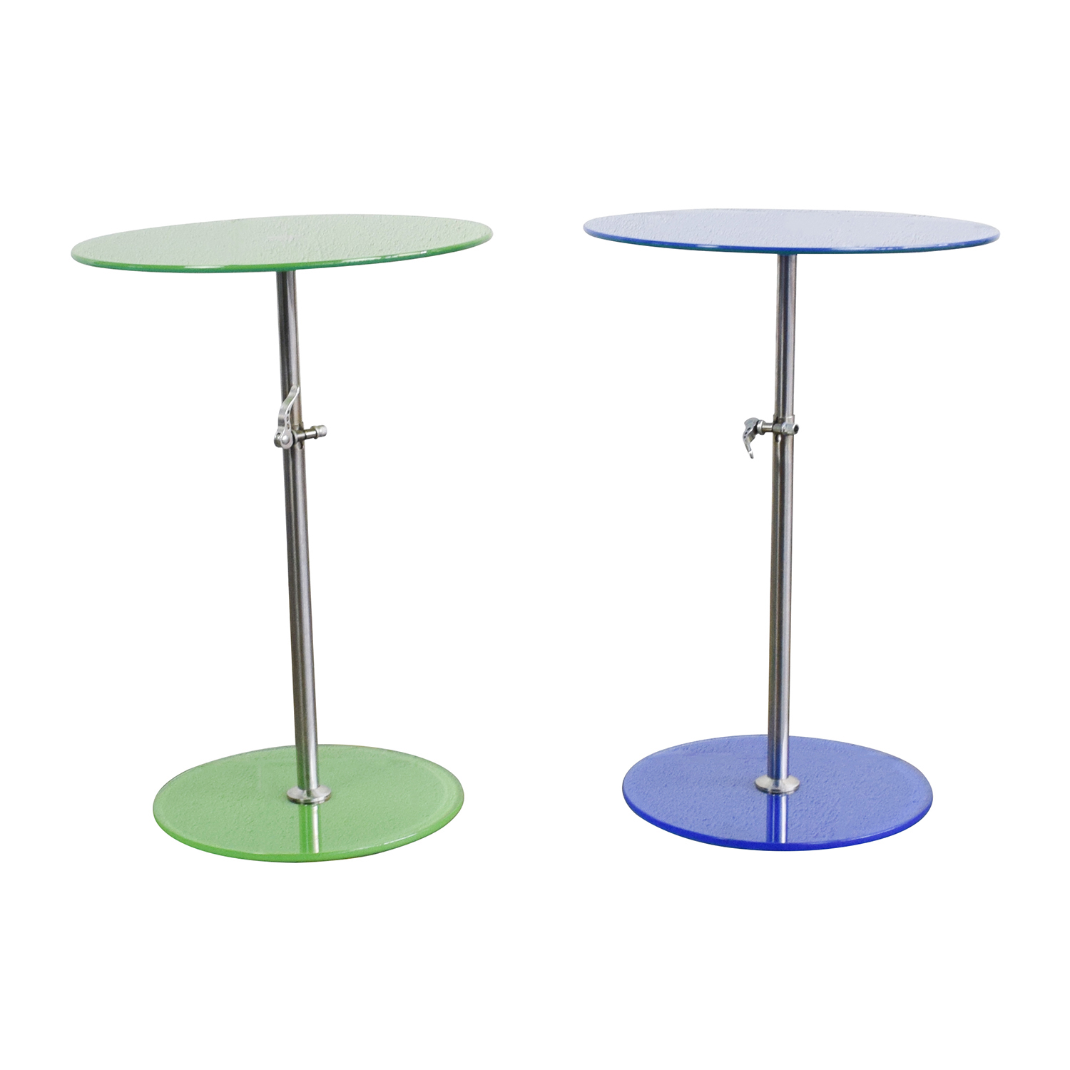 shop Modern Round Glass End Tables