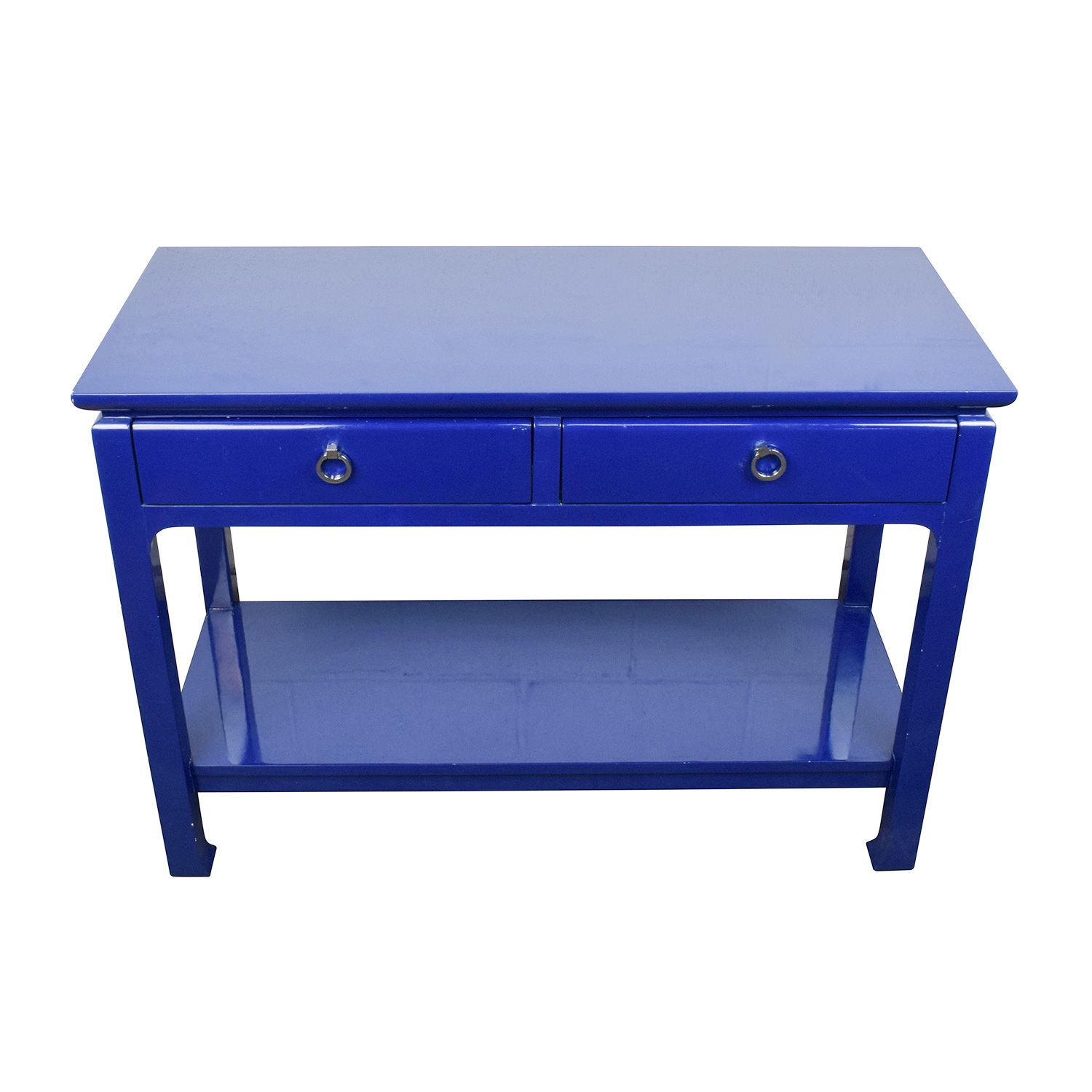 Bruna Bruna Modern Classic Blue Lacquer Chinoiserie Console Table second hand