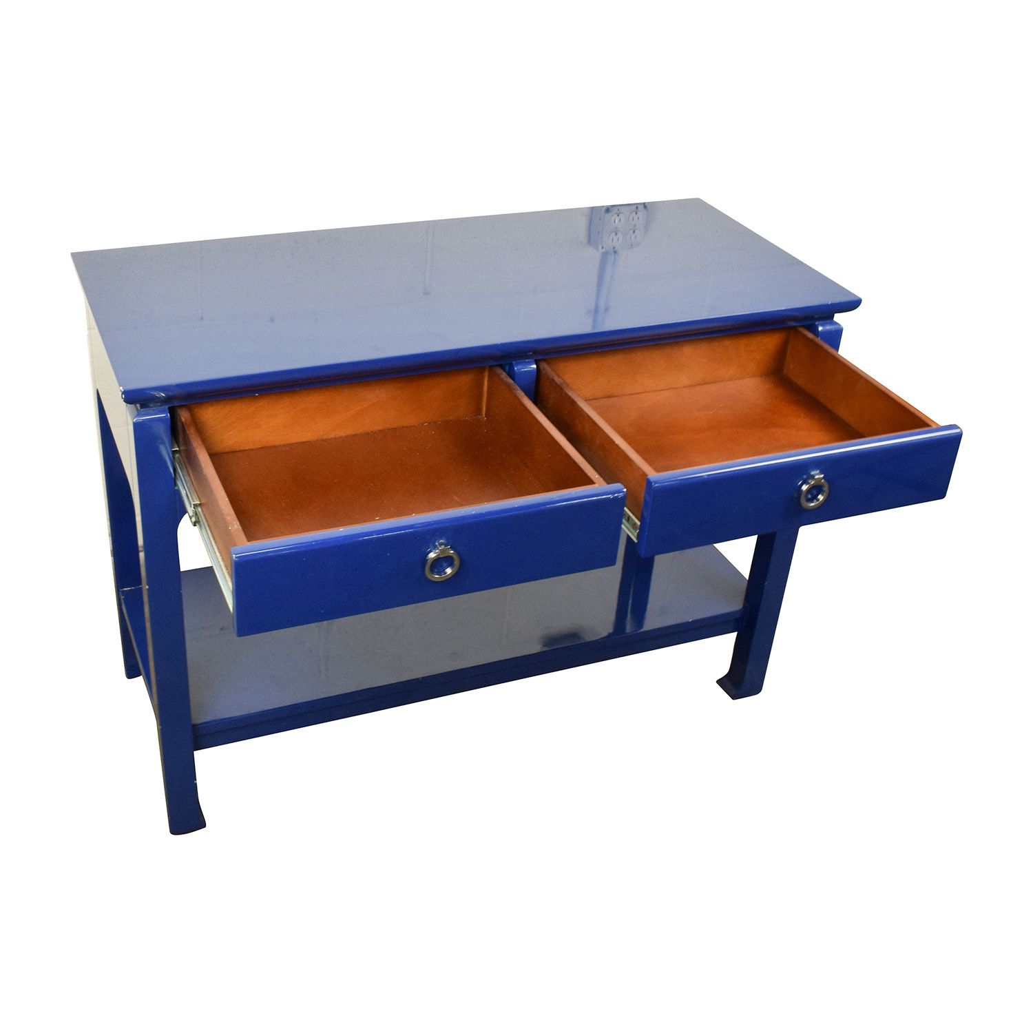 buy Bruna Modern Classic Blue Lacquer Chinoiserie Console Table Bruna Cabinets & Sideboards