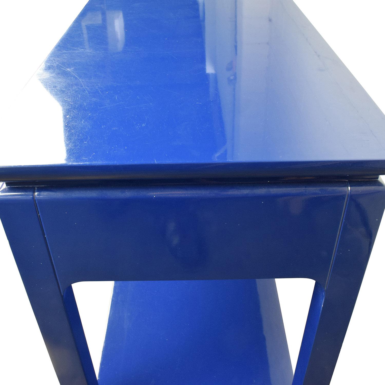 Bruna Bruna Modern Classic Blue Lacquer Chinoiserie Console Table nj