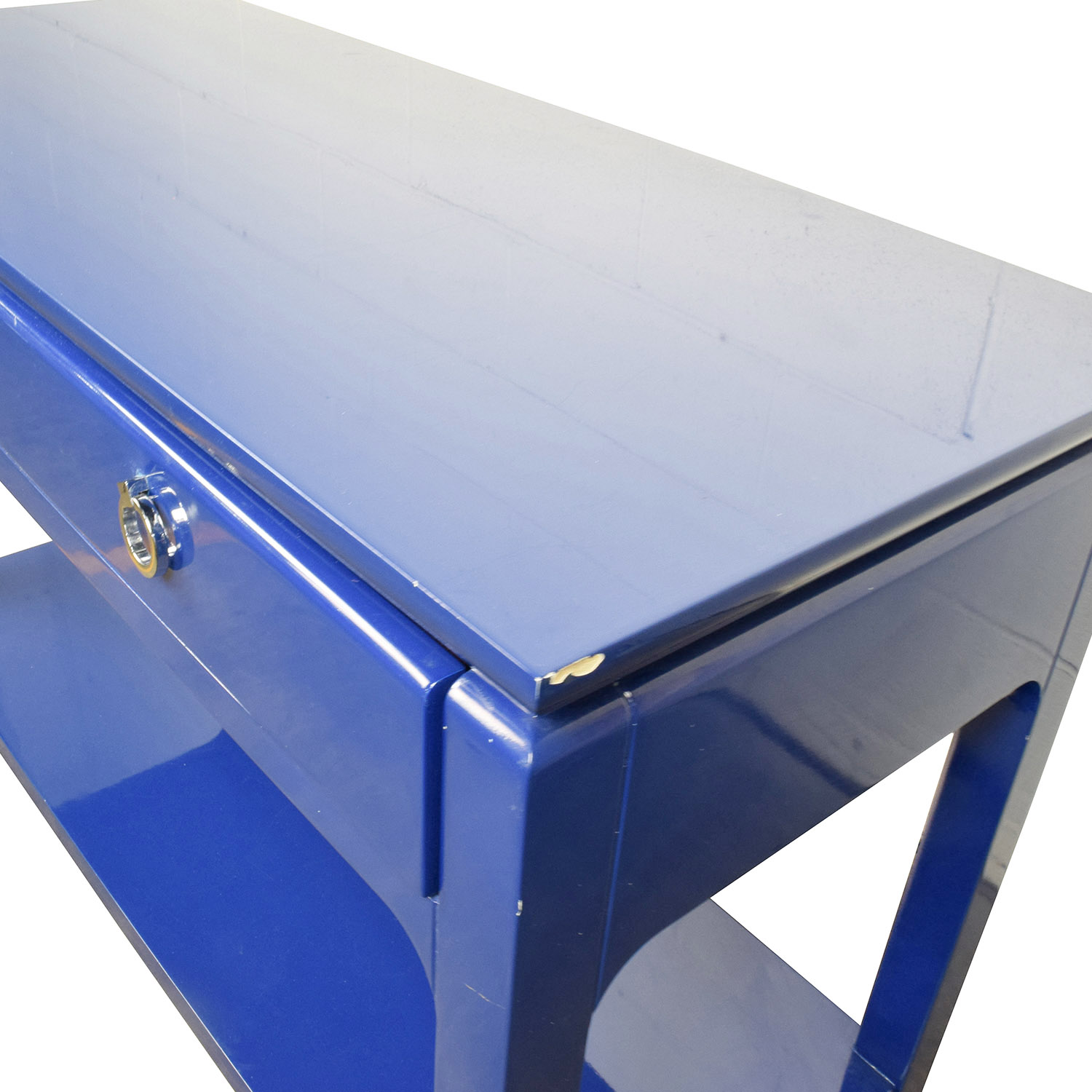 buy Bruna Modern Classic Blue Lacquer Chinoiserie Console Table Bruna