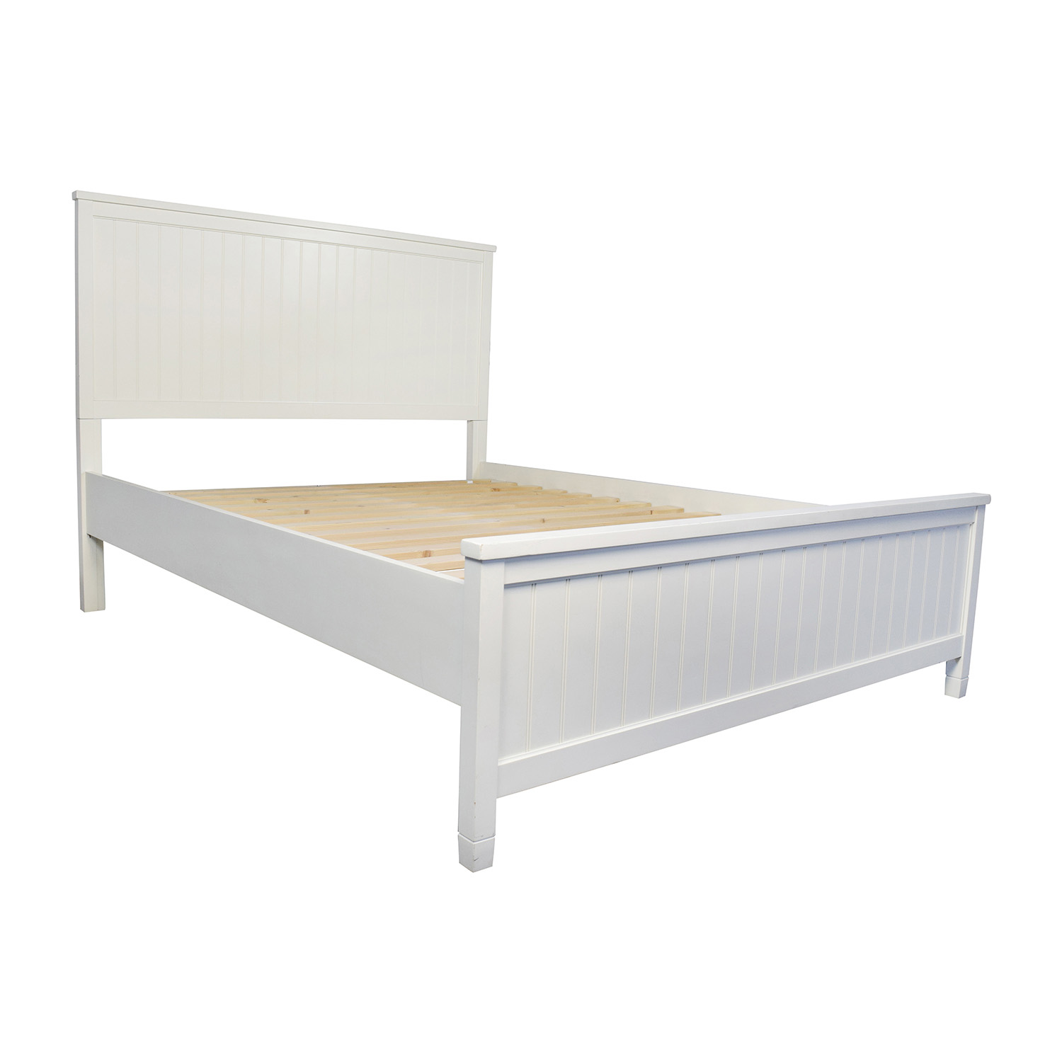 Pottery barn bed frames high full size bed frame cool on for Queen size bed frame