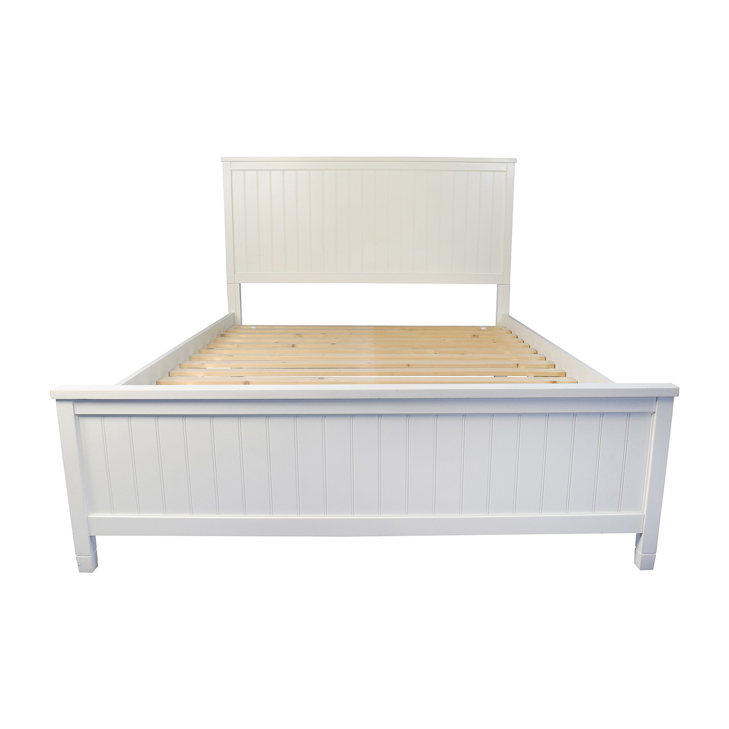 51% OFF - Pottery Barn Pottery Barn Wooden Queen Sized Bed ...