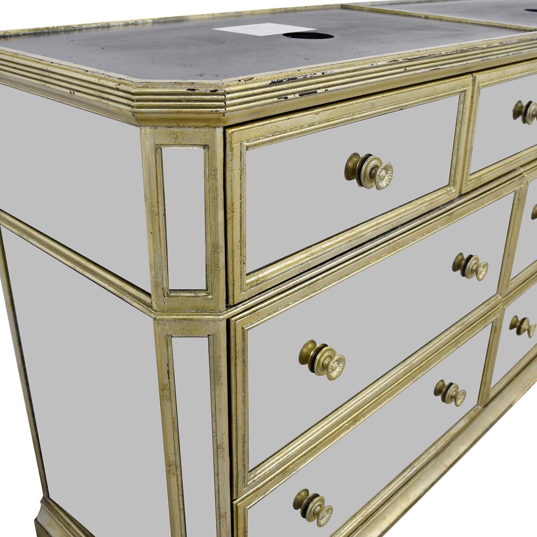 Marais Seven-Drawer Mirrored Dresser Marais