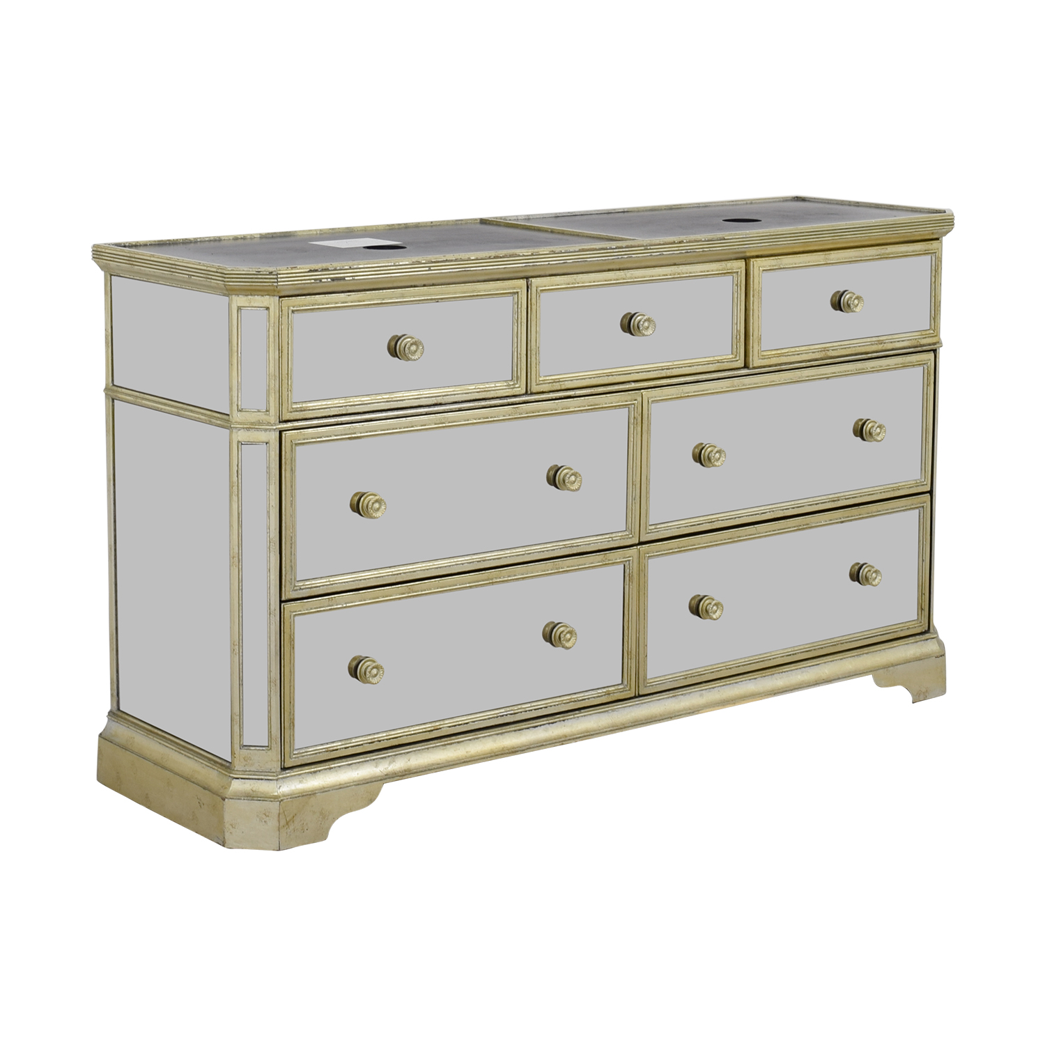 buy Marais Seven-Drawer Mirrored Dresser Marais Dressers