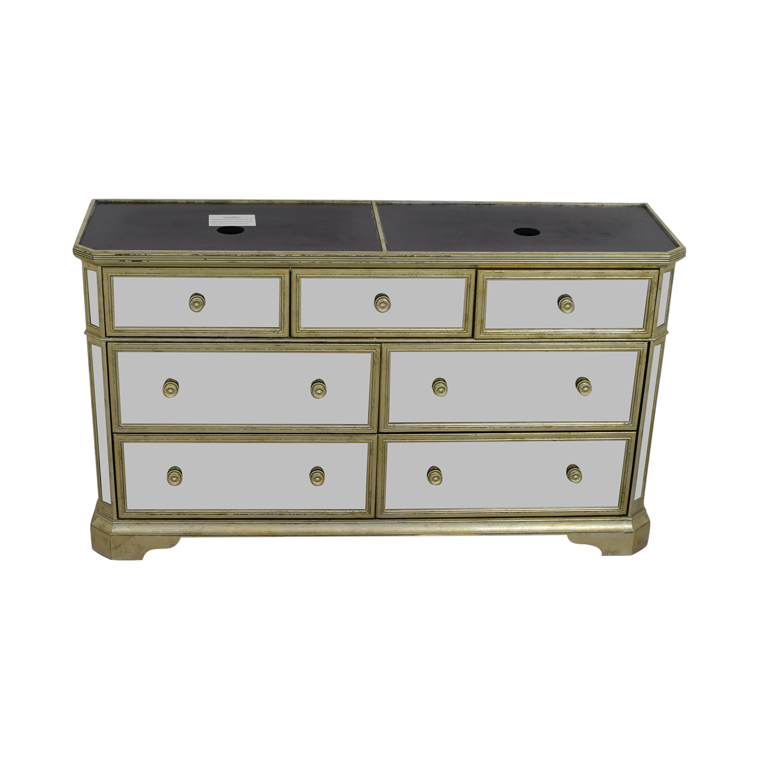 Marais Marais Seven-Drawer Mirrored Dresser gray\mirrored