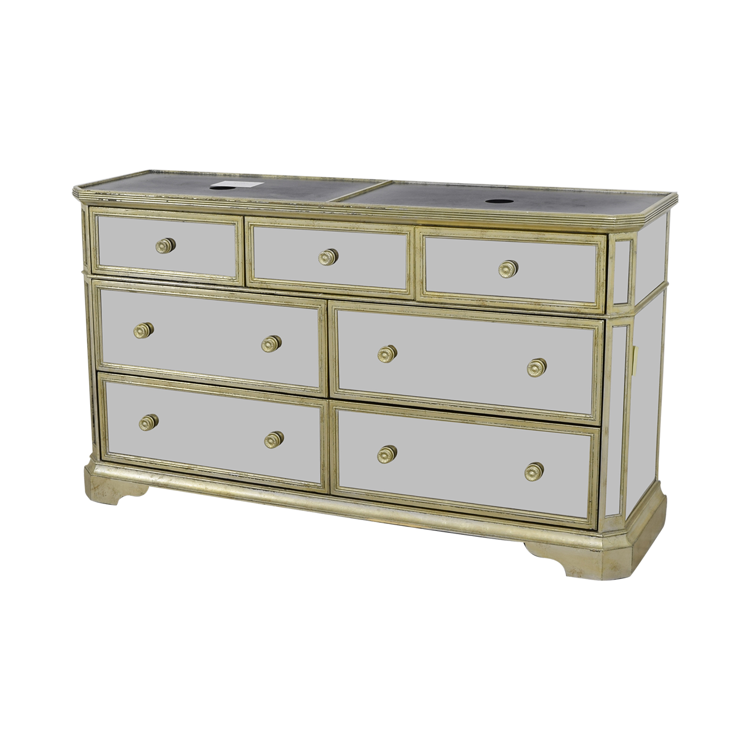 Marais Marais Seven-Drawer Mirrored Dresser Storage