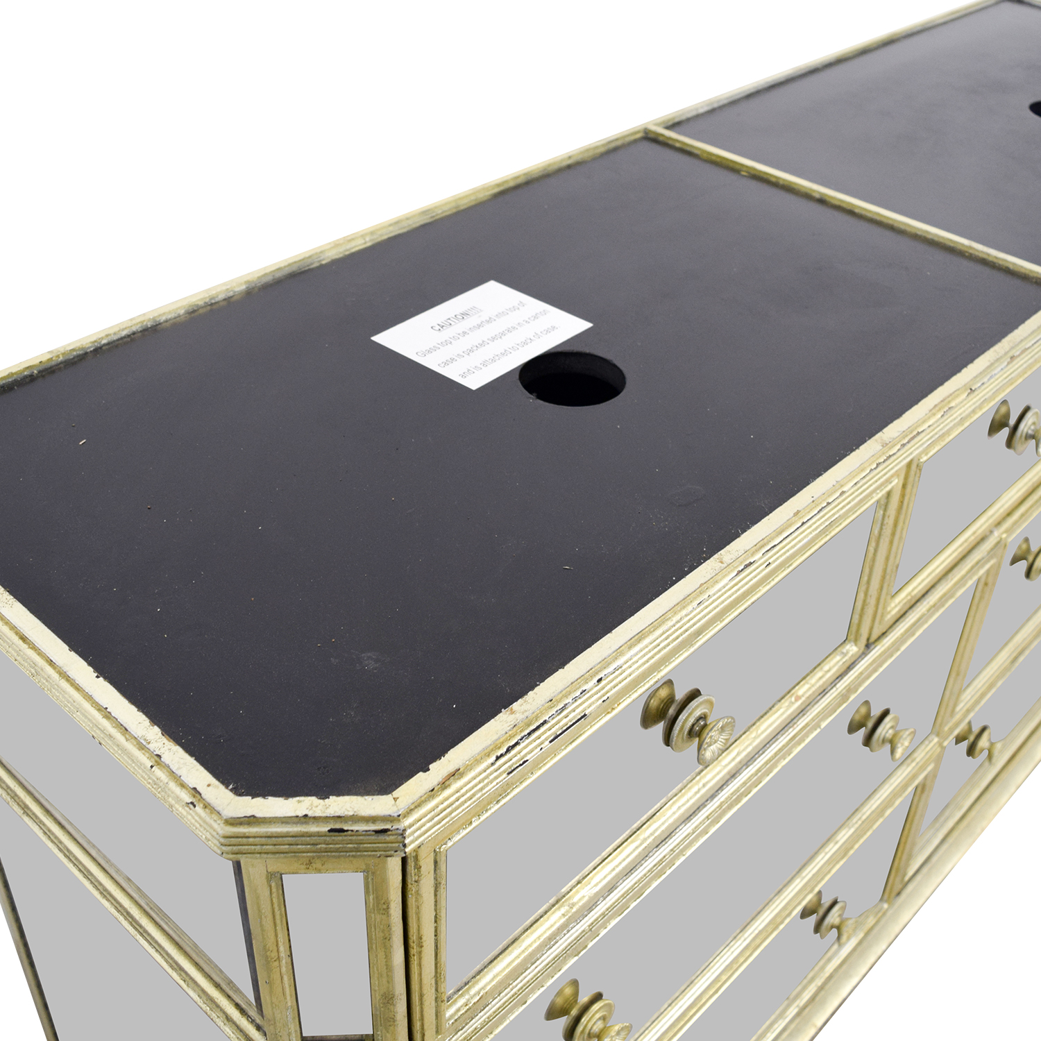 shop Marais Seven-Drawer Mirrored Dresser Marais