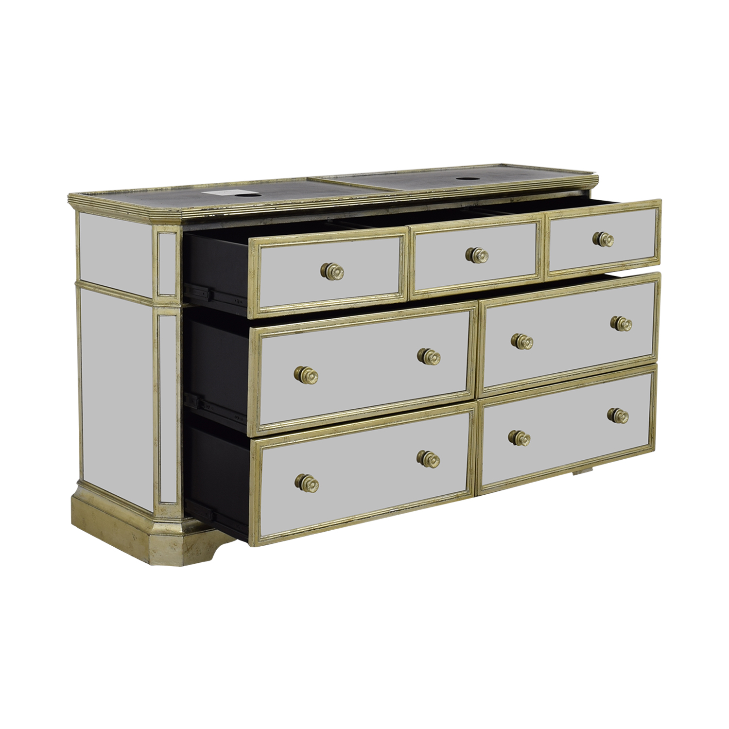 Marais Marais Seven-Drawer Mirrored Dresser nyc