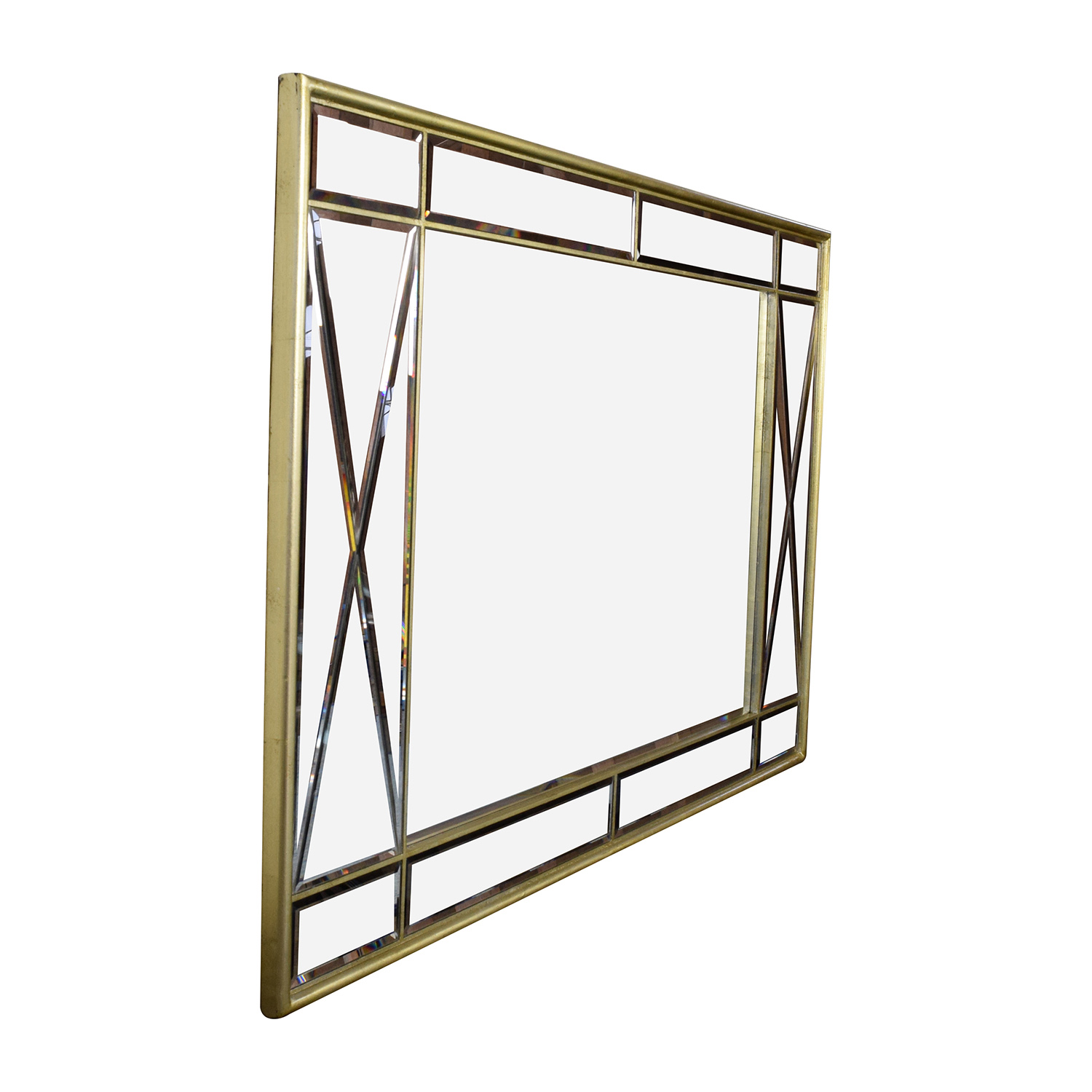 Macy's Macy's Ailey Gold Framed  Mirror on sale