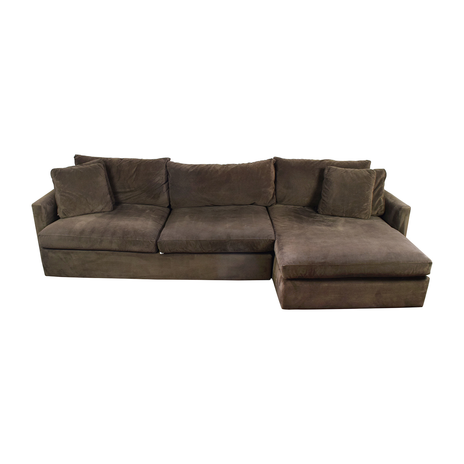 Crate and Barrel Crate & Barrel Brown Left Arm Sectional nj