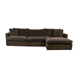 Crate & Barrel Crate & Barrel Brown Left Arm Sectional for sale