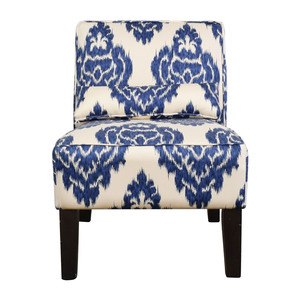 Overstock Overstock Blue and White Accent Chair used