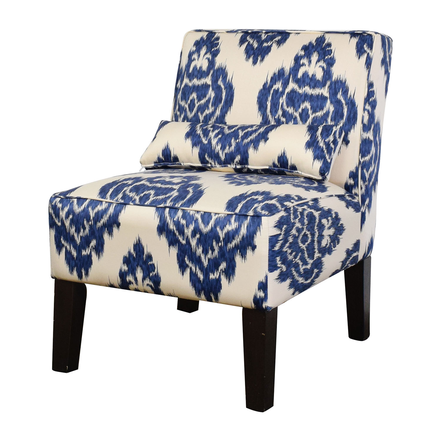 Super 52 Off Overstock Overstock Blue And White Accent Chair Chairs Machost Co Dining Chair Design Ideas Machostcouk