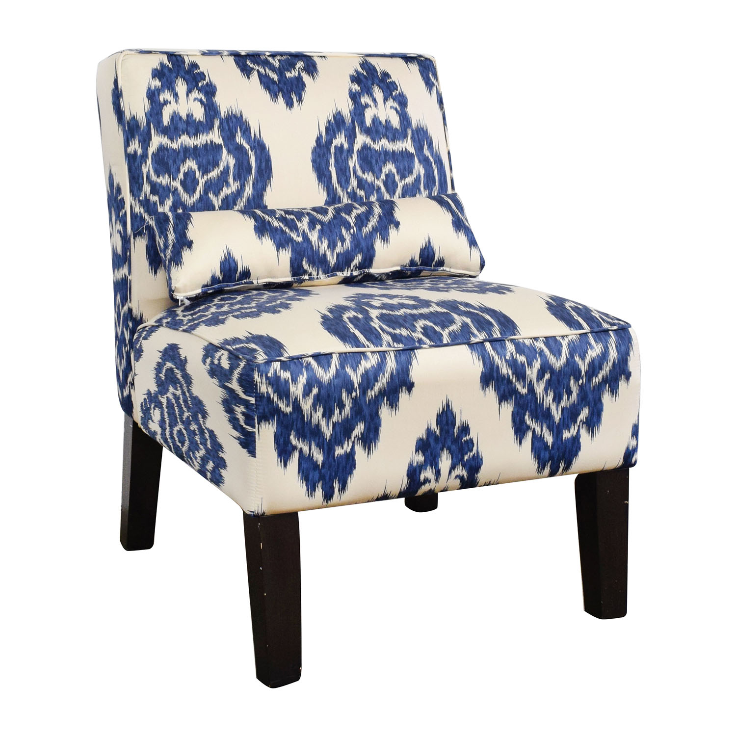 Surprising 52 Off Overstock Overstock Blue And White Accent Chair Chairs Machost Co Dining Chair Design Ideas Machostcouk