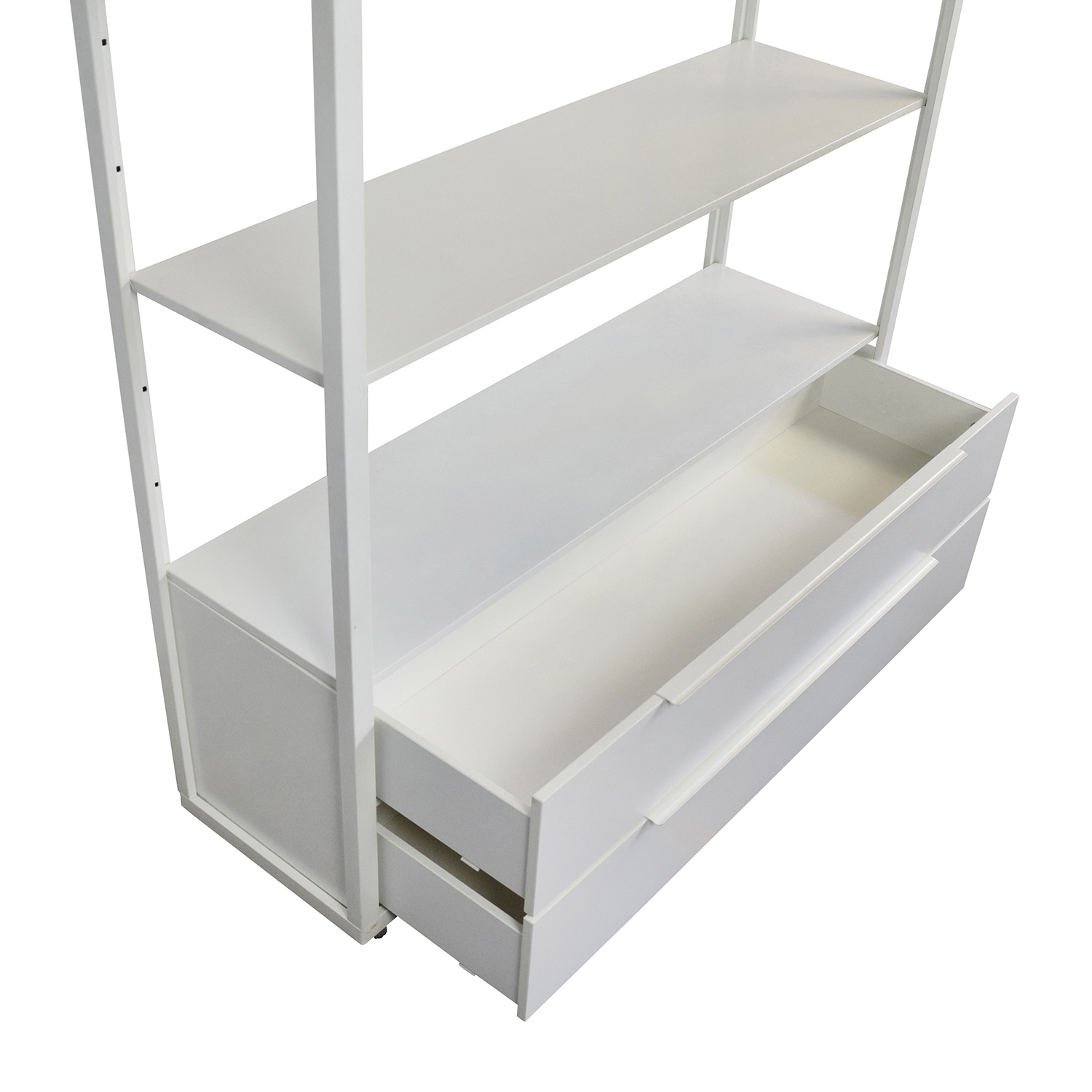 63 Off Ikea Ikea White Shelving Unit With Drawers Storage