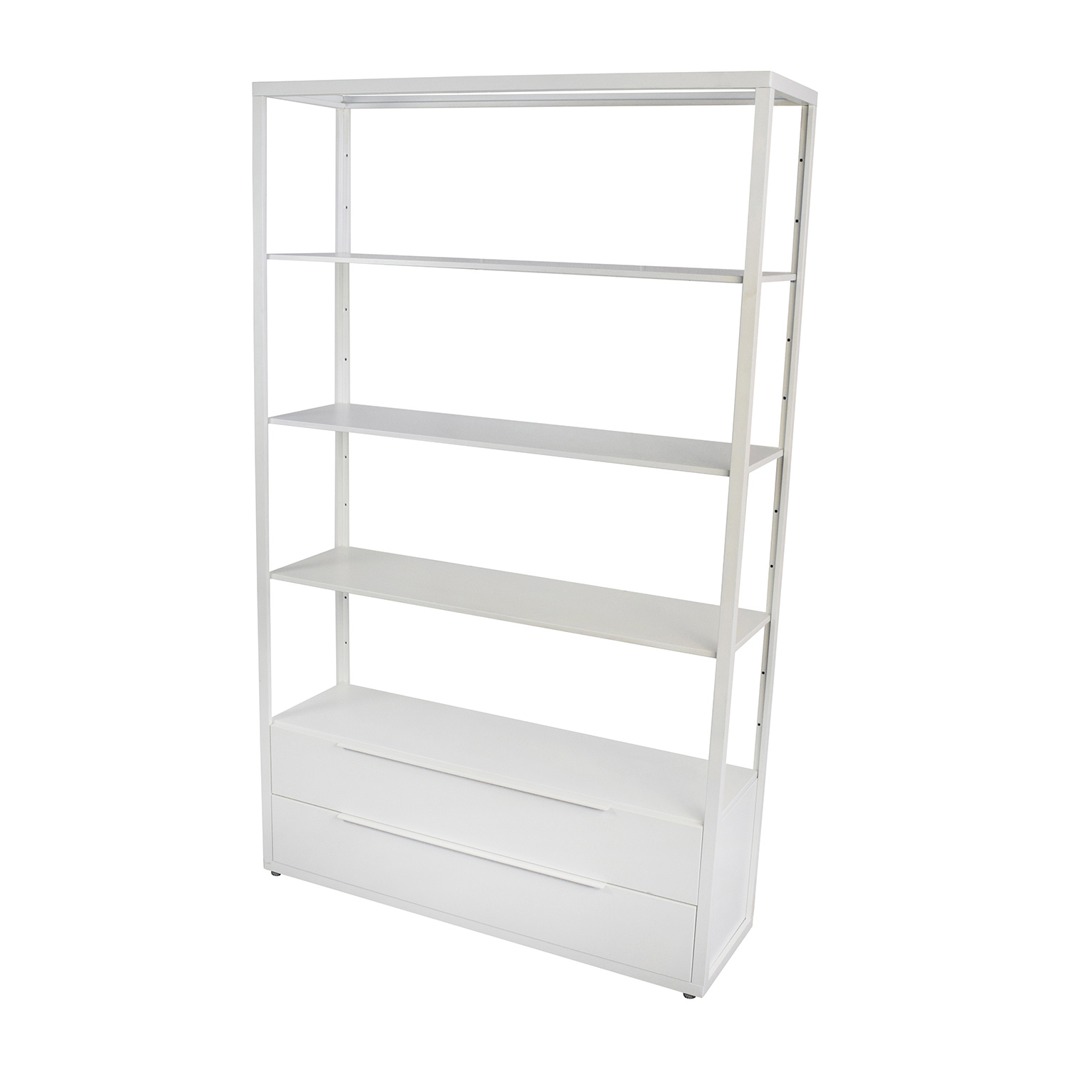 Off ikea white shelving unit with drawers storage