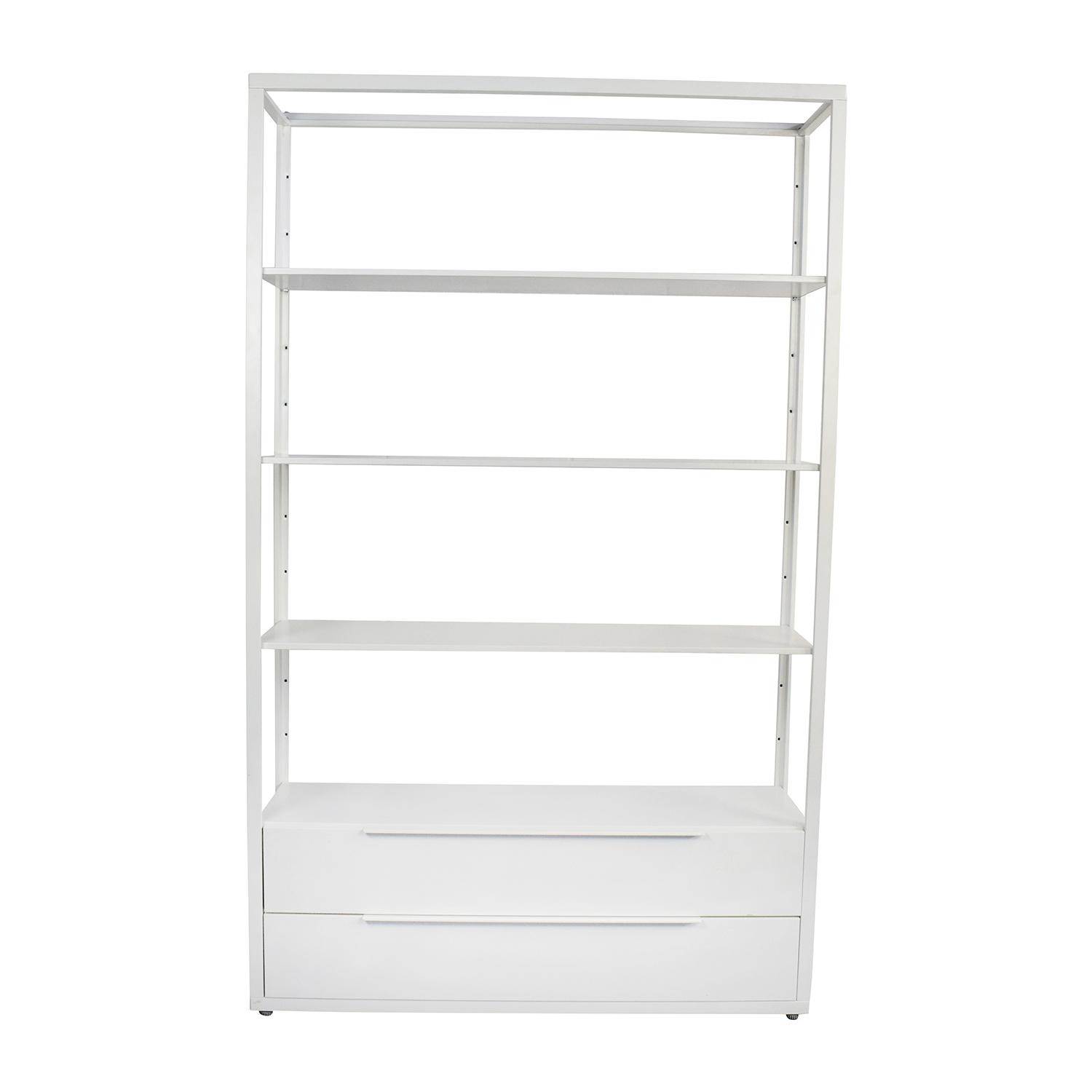 IKEA IKEA White Shelving Unit with Drawers used