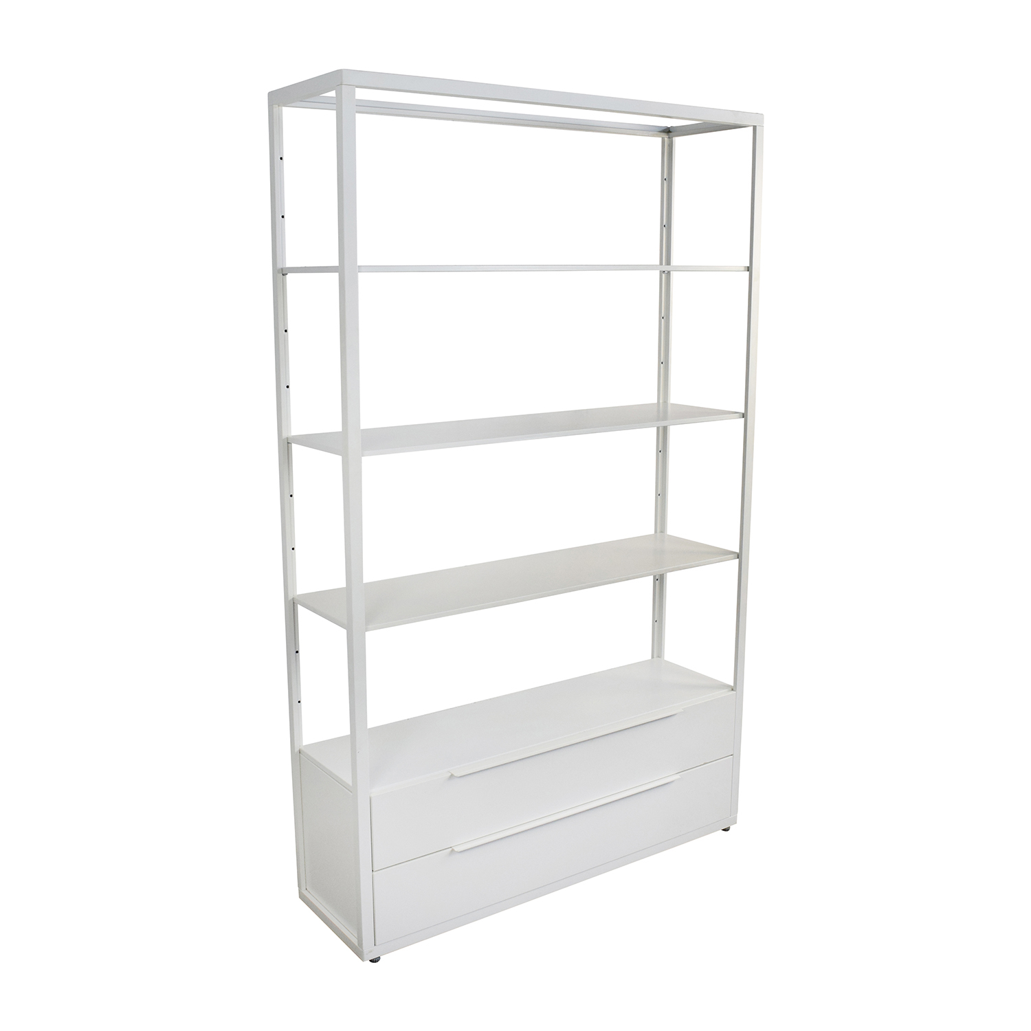 OFF IKEA IKEA White Shelving Unit with Drawers Storage