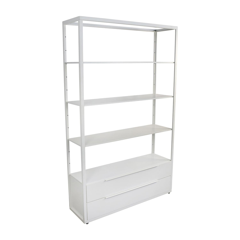 63 Off Ikea Ikea White Shelving Unit With Drawers Storage