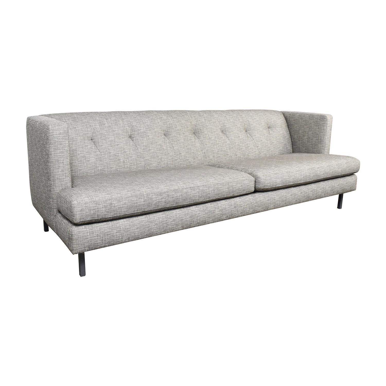 ... CB2 CB2 Avec Gray Tufted Sofa On Sale ...