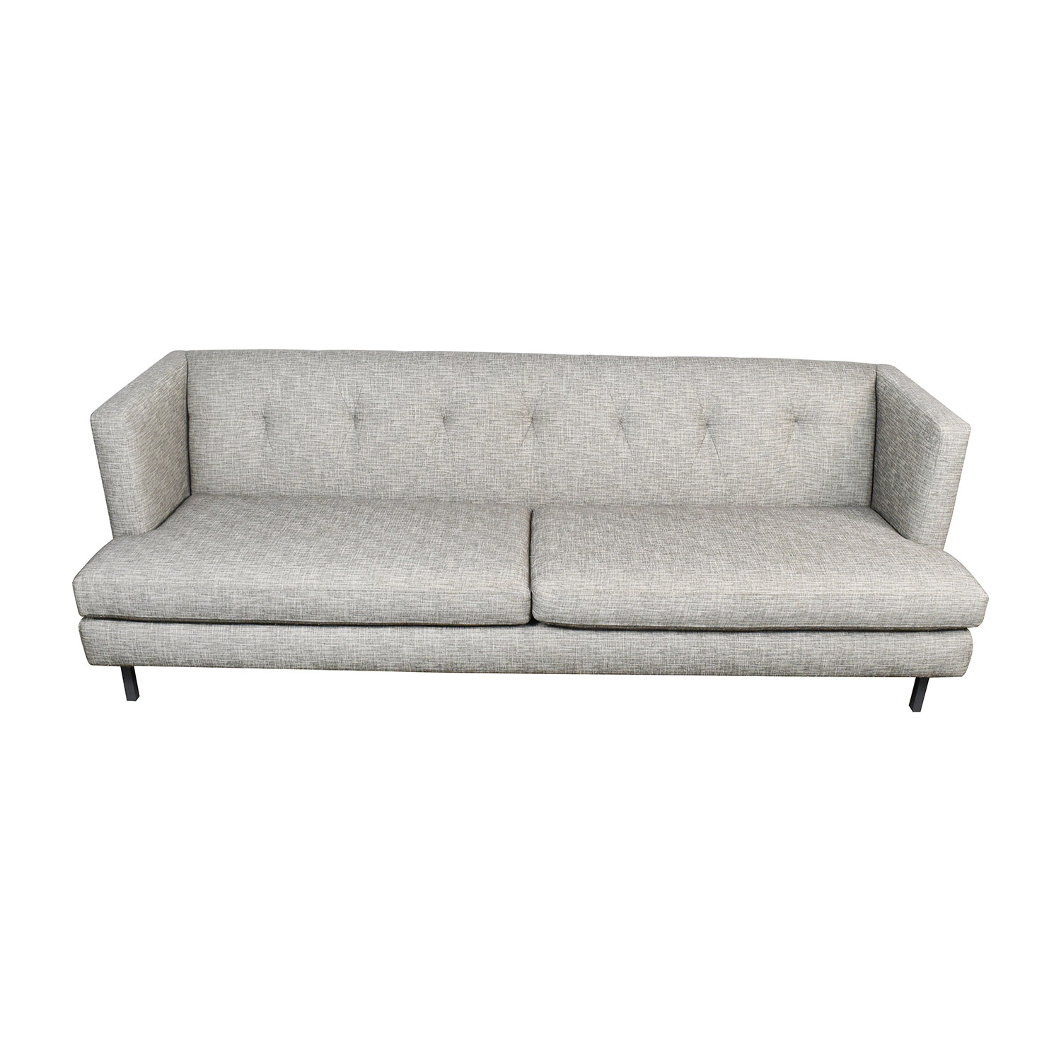 CB2 CB2 Avec Gray Tufted Sofa on sale