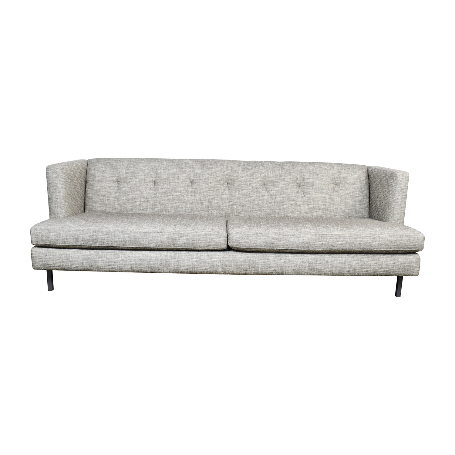 shop CB2 Avec Gray Tufted Sofa CB2