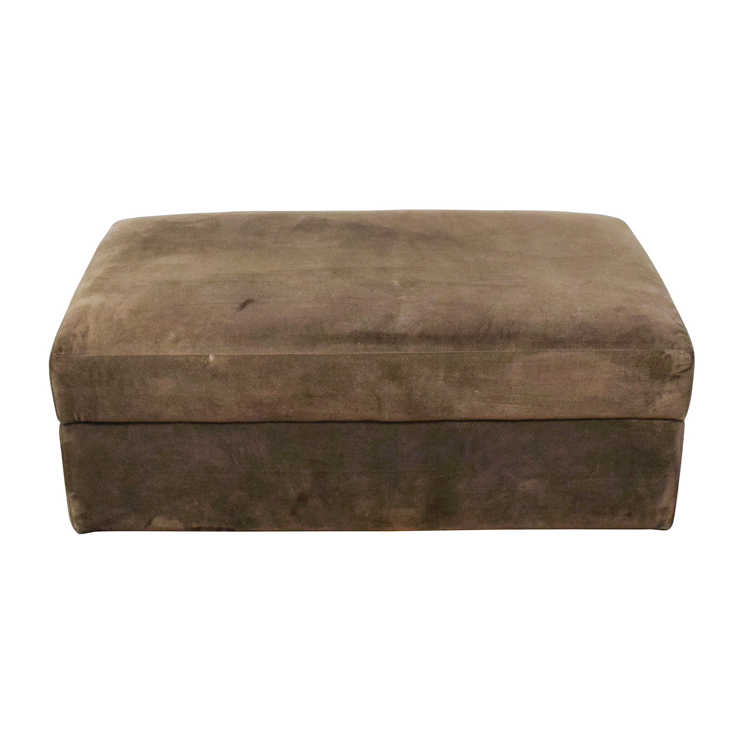 Crate and Barrel Crate & Barrel Brown Storage Ottoman dimensions