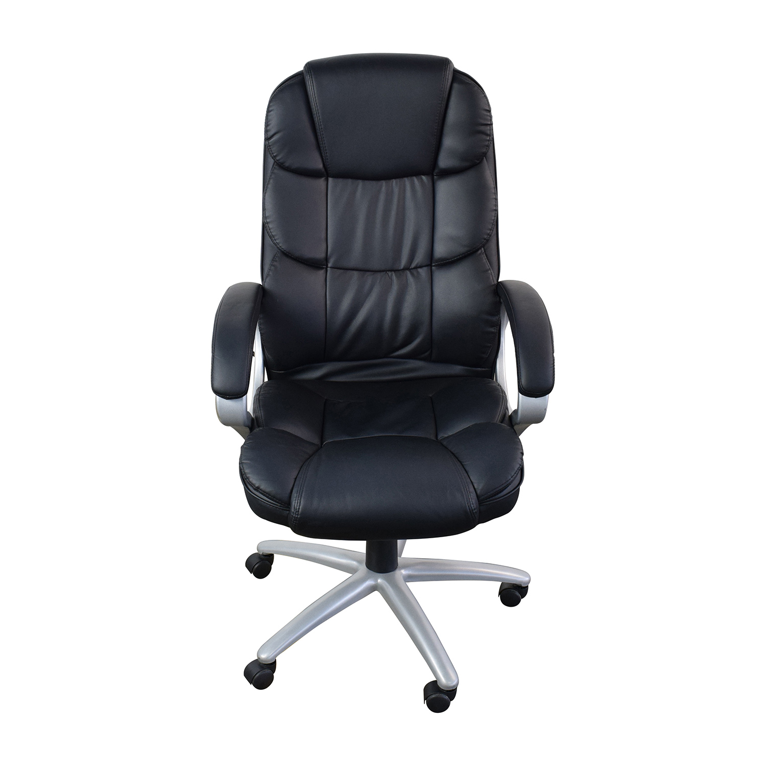 Black Leather Executive Office Chair coupon