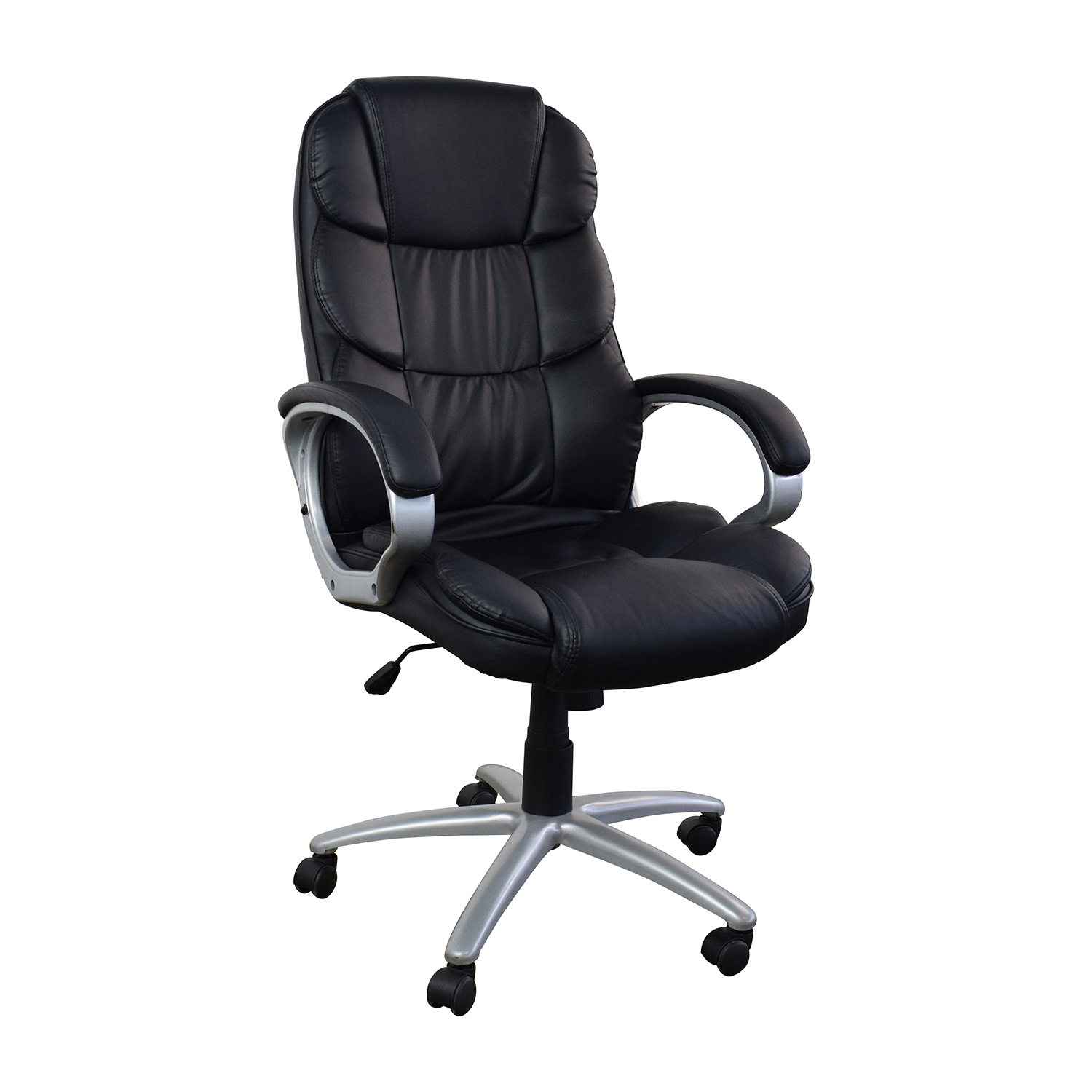 Black Leather Executive Office Chair Chairs