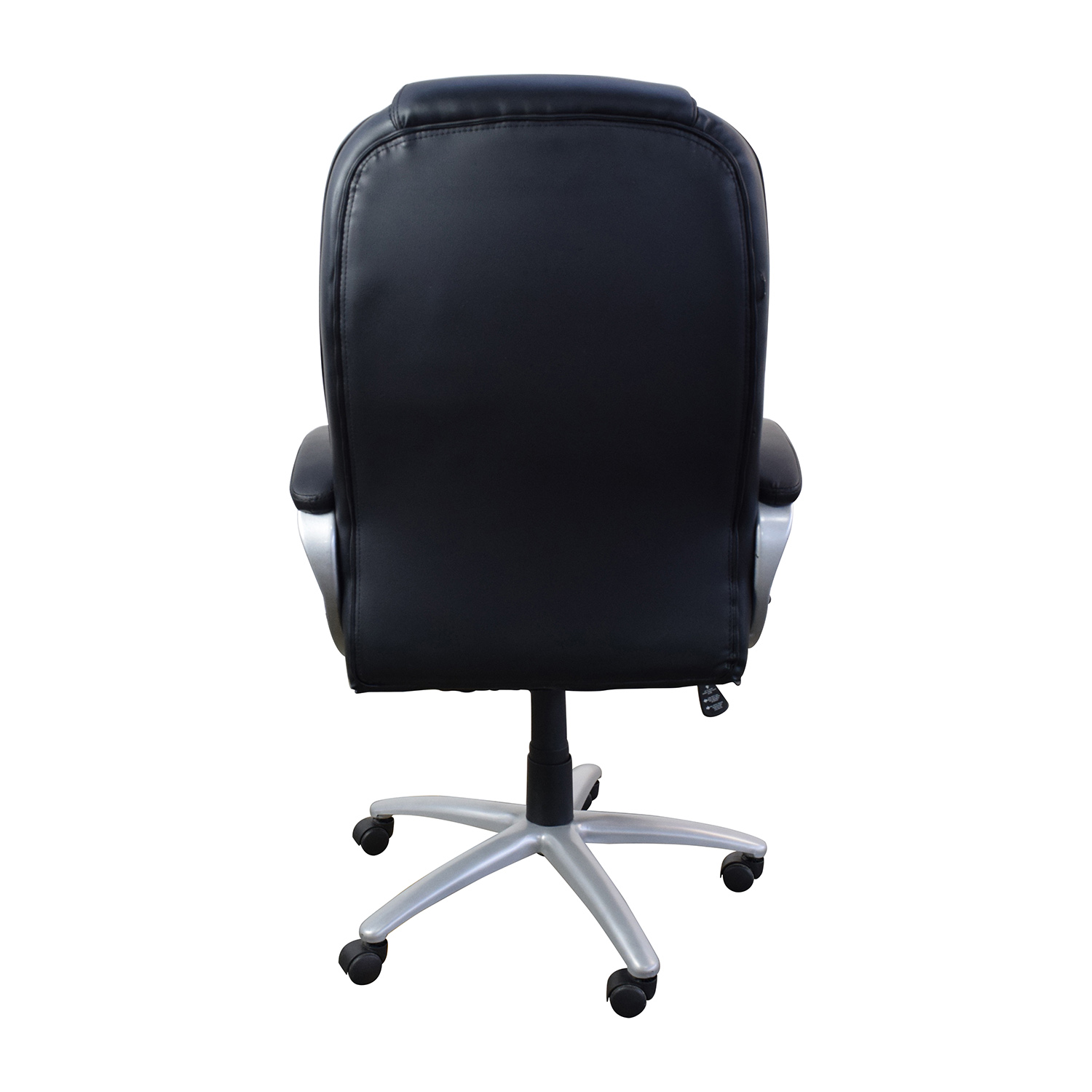 Black Leather Executive Office Chair on sale