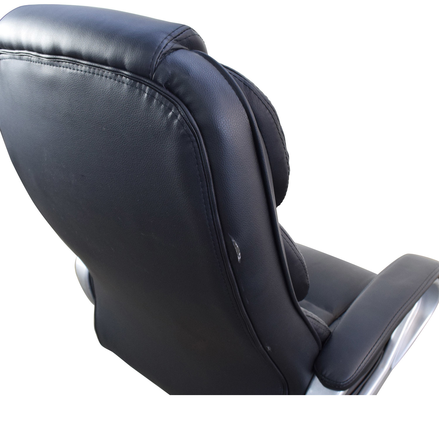 Black Leather Executive Office Chair discount